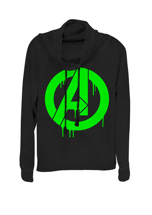 """Marvel™ The Avengers Green Dripping Ooze """"A"""" Logo"""