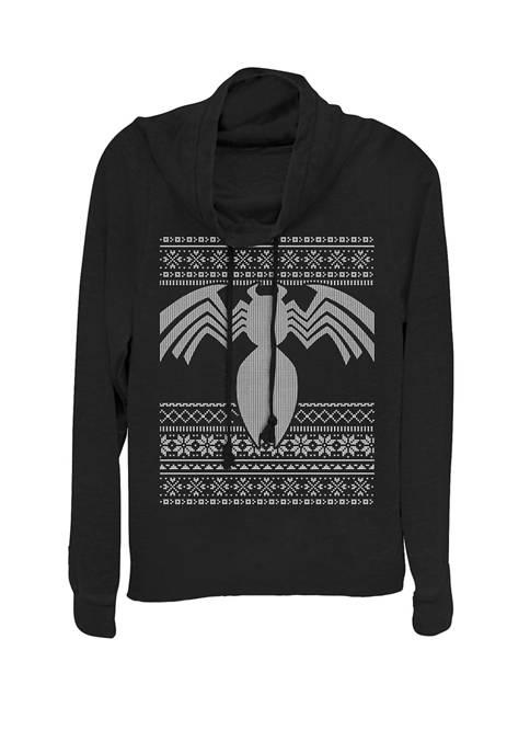 Marvel™ Venom Logo Holiday Ugly Sweater Cowl Neck
