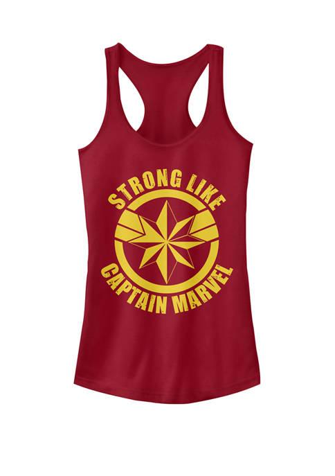 Strong Like Captain Marvel™ Logo Graphic Racerback Tank