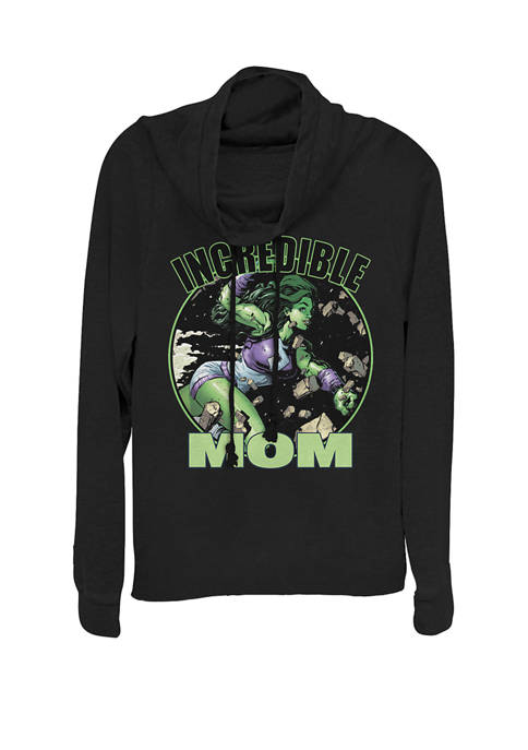 Marvel™ She-Hulk Incredible Mom Cowl Neck Graphic Pullover