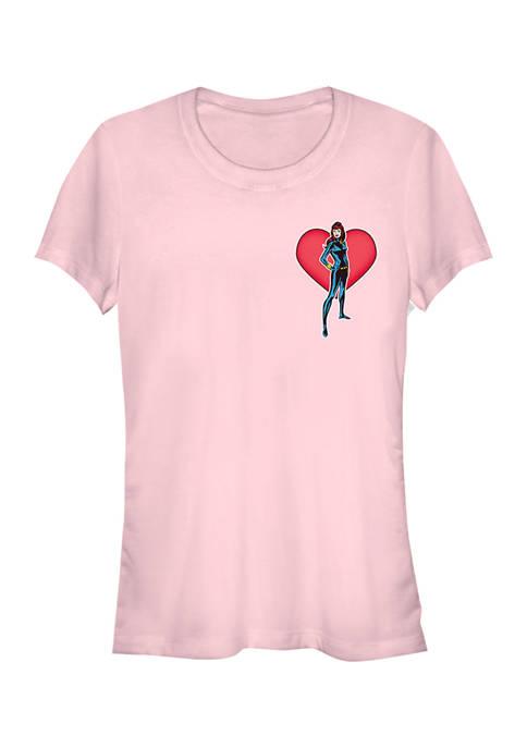 Juniors  Black Widow Heart T-Shirt