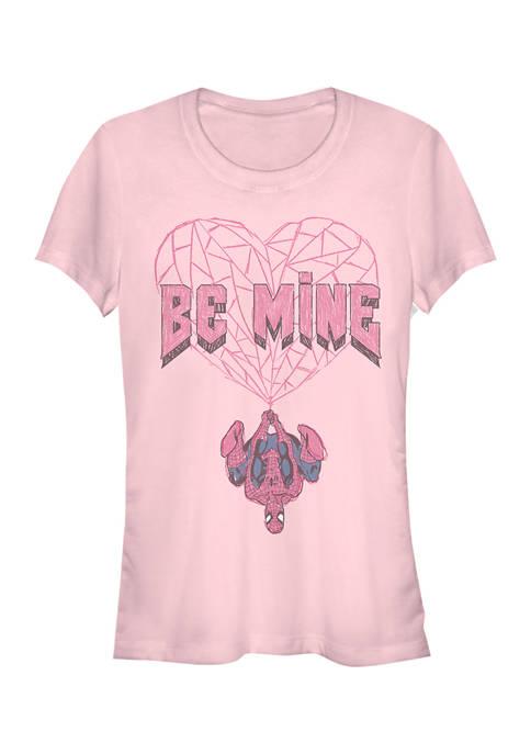 Juniors  Be Mine Spiderman T-Shirt