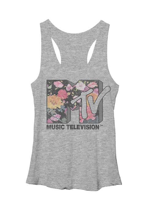 MTV Juniors Garden Logo Graphic Tank