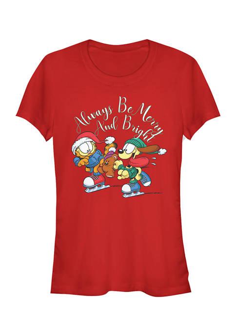 Garfield Juniors Merry And Bright T-Shirt