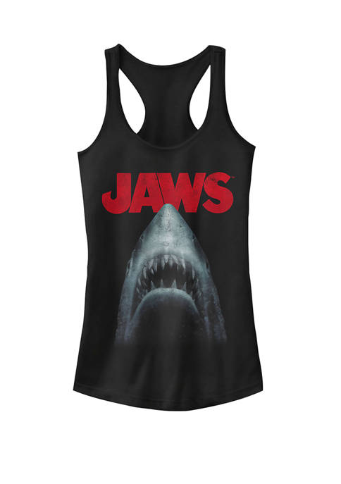 Shark In Dark Waters Classic Icon Racerback Graphic Tank