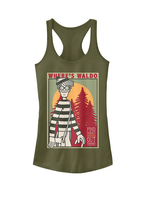 Find Yourself Poster Racerback Graphic Tank