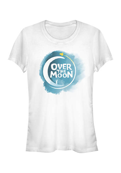 Juniors Over the Moon Logo Full Color T-Shirt