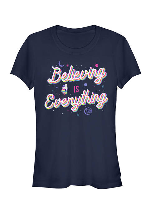 Juniors Over the Moon Believing T-Shirt