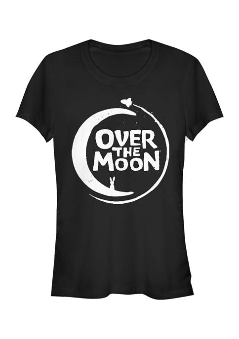 Juniors Over the Moon Logo Solid T-Shirt