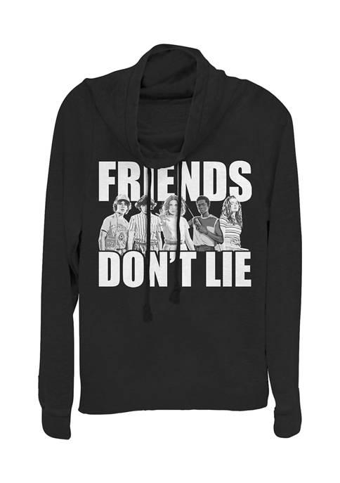 Juniors  Cast Friends Dont Lie Graphic Pullover Top