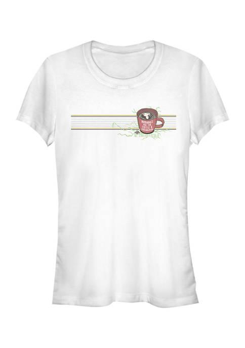 Juniors  Mornings Mug Graphic T-Shirt