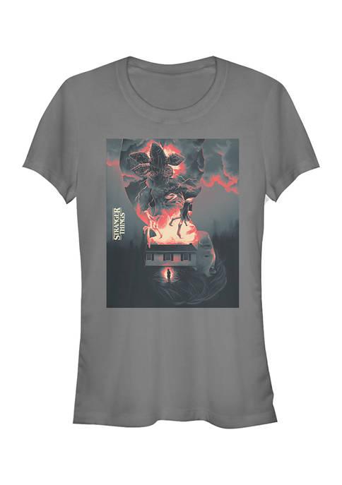 Juniors  Demogorgon Poster Graphic T-Shirt
