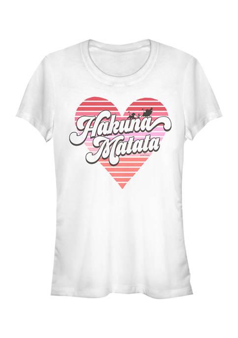 Lion King Juniors HAKUNA HEART T-Shirt