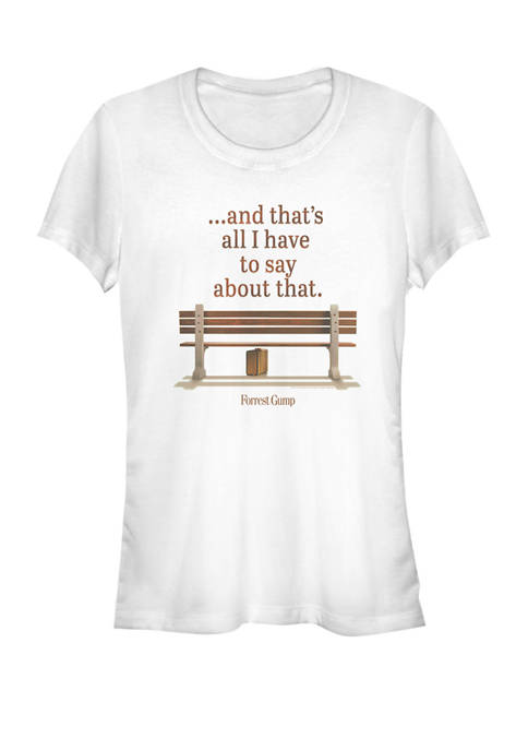 Bus Bench Thats All I Have To Say About That Quote Short Sleeve Graphic T-Shirt