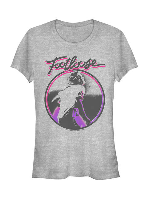 Footloose Dancing Circle Logo Short Sleeve Graphic T-Shirt