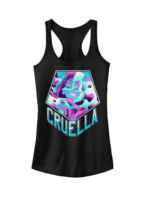 101 Dalmatians Cruella Bold Pop Art Graphic Racerback Tank