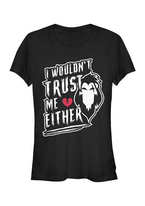 Disney Villains Juniors Never Trust Scar T-Shirt