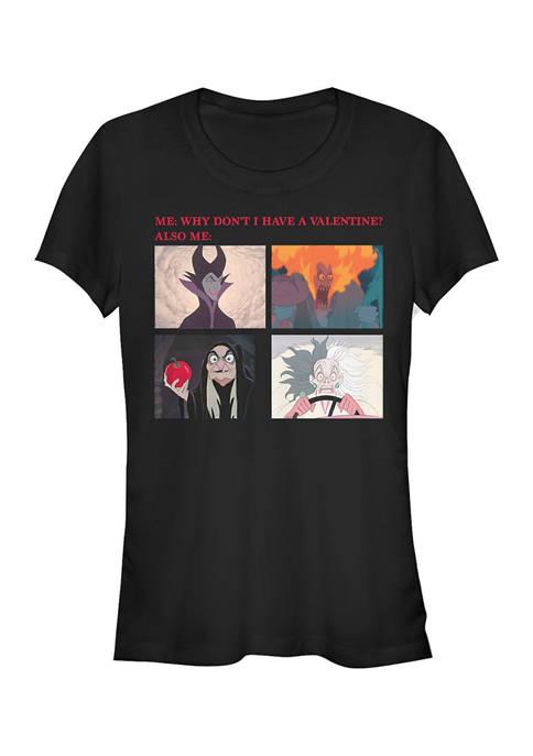 Disney Villains Juniors Valentine Meme T-Shirt