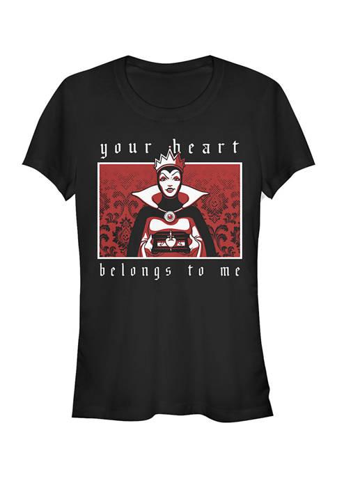 Disney Villains Juniors Evil Queen Heart T-Shirt