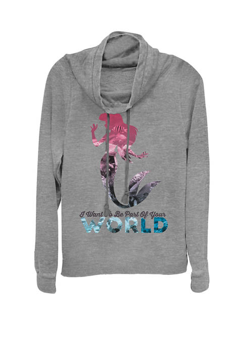 Disney® Little Mermaid Your World Cowl Neck Graphic
