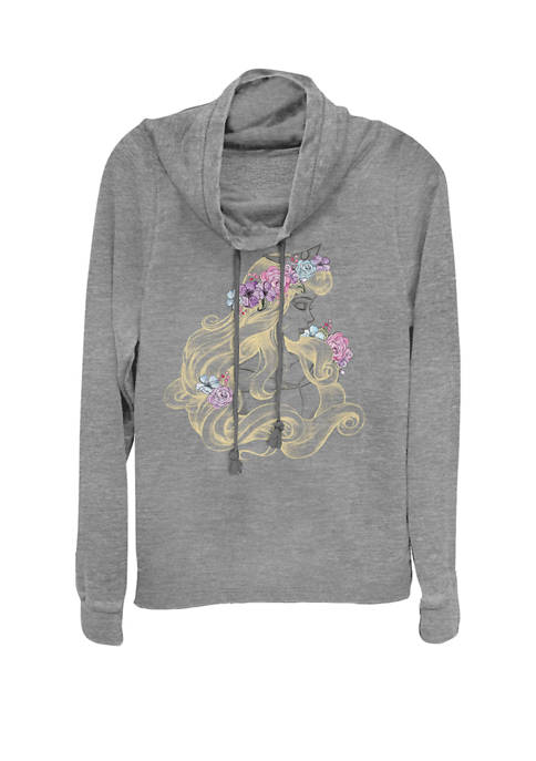 Disney® Sleeping Beauty Colorful Illustration Cowl Neck Graphic