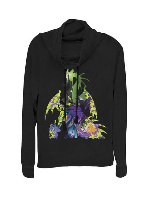 Disney® Sleeping Beauty Maleficent Dragon Silhouette Cowl Neck
