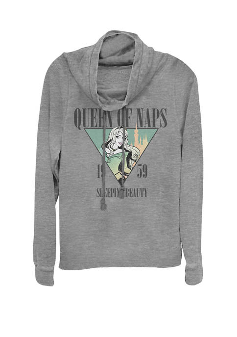 Sleeping Beauty Nap Queen 1959 Cowl Neck Graphic Pullover