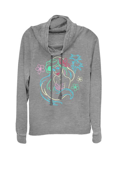 Disney® Little Mermaid Ariel Neon Lights Cowl Neck