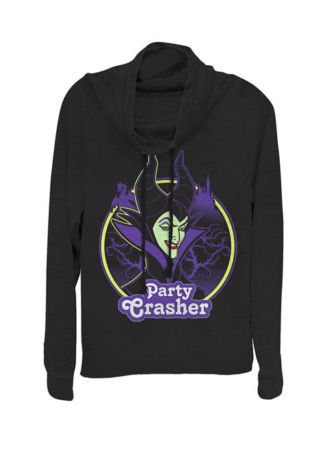 Sleeping Beauty Maleficent Party Crasher Cowl Neck Graphic Pullover
