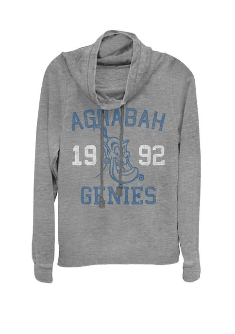 Aladdin Genie Agrabah Genies 1992 Cowl Neck Graphic Pullover