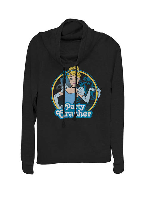 Disney® Cinderella Party Crasher Cowl Neck Graphic Pullover