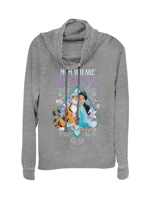 Disney® Jasmine Fearless Mothers Day Cowl Neck Graphic