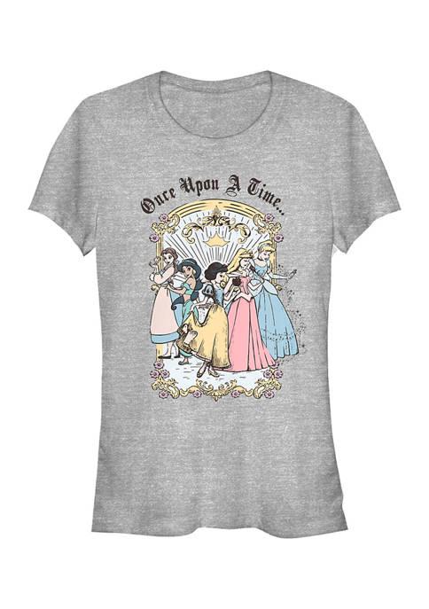 Disney Princess Juniors Vintage Princess Group T-Shirt