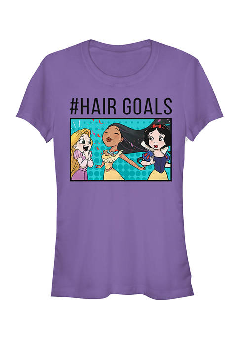 Disney Princess Juniors Hair Goals Comic Trio T-Shirt
