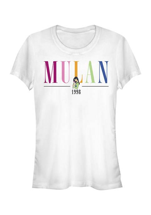Juniors  Mulan Title T-Shirt