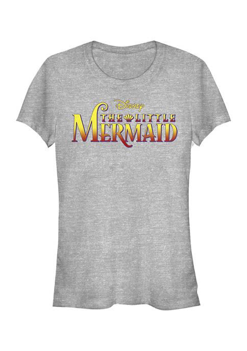 Juniors  Little Mermaid Logo Graphic T-Shirt