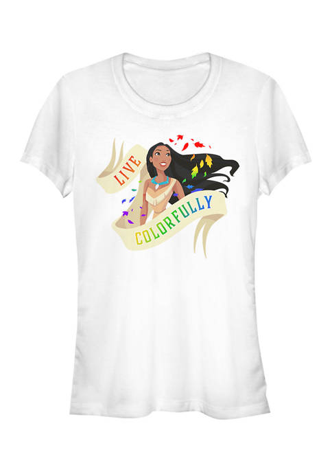 Juniors  Live Colorfully Graphic T-Shirt