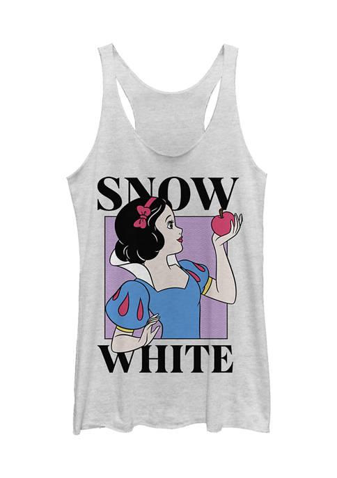 Juniors  Snow White Graphic Tank
