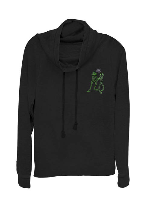 Juniors  Dancing Frogs Graphic Pullover T-Shirt