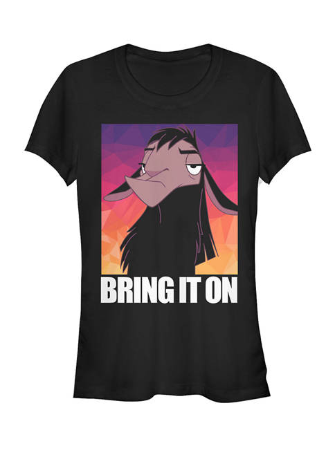 Emperors New Groove Kuzco Llama Bring it On Short Sleeve Graphic T-Shirt