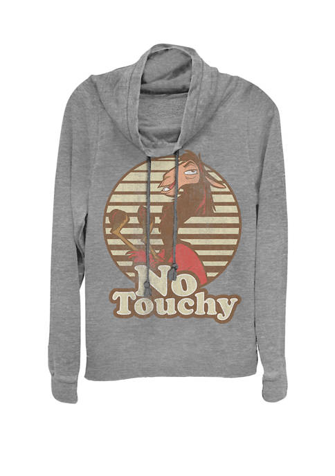 Emperors New Groove Kuzco Llama No Touchy Cowl Neck Graphic Pullover