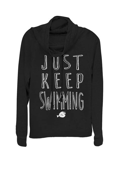 Finding Dory Keep Swimming Cowl Neck Graphic Pullover