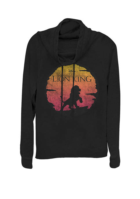 Disney® Lion King Vintage Sunset Logo Cowl Neck
