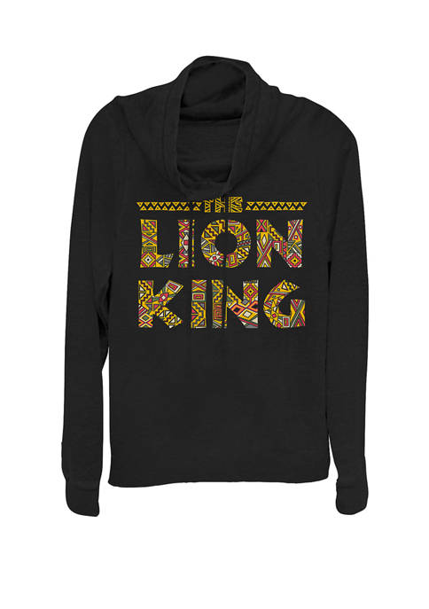 Disney® Lion King Sahara Logo Cowl Neck Graphic