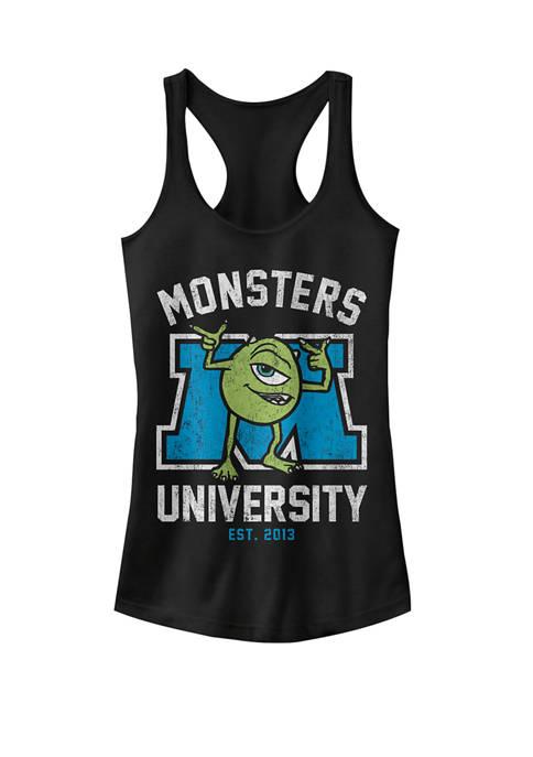 Monsters University Mike Wazowski Logo Graphic Racerback Tank
