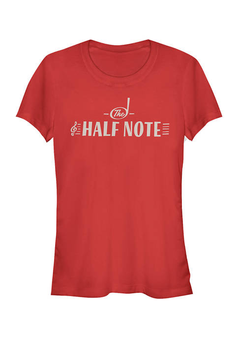 Juniors The Half Note Graphic Top