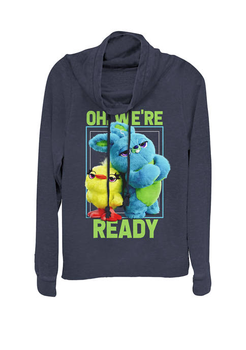 Toy Story 4 Ducky & Bunny Oh, Were Ready Cowl Neck Graphic Pullover