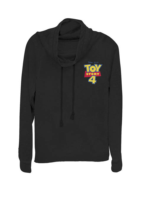 Toy Story 4 Movie Logo Left Chest Pocket Cowl Neck Pullover