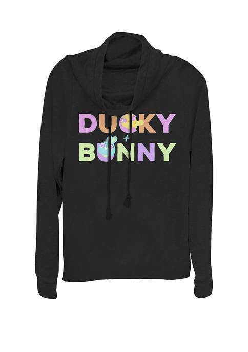 Toy Story 4 Ducky & Bunny Colorful Names Logo Cowl Neck Pullover