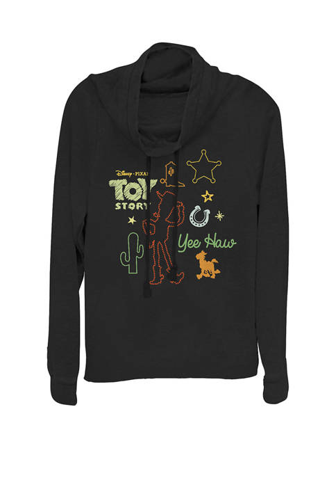 Toy Story Howdy Partner Woody Shapes Cowl Neck Graphic Pullover